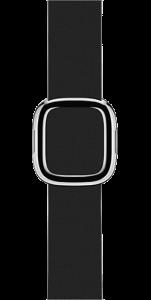 Ремешок чёрного цвета с современной пряжкой 38 мм