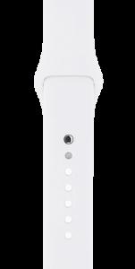Спортивный ремешок белого цвета 42 мм