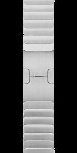 Блочный браслет серебристого цвета 38 мм