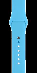 Спортивный ремешок голубого цвета 38 мм