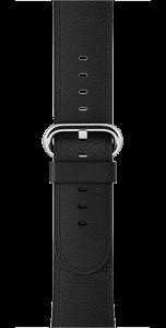 Ремешок чёрного цвета с классической пряжкой 42 мм