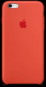 Оранжевый силиконовый чехол для iPhone6/6sPlus