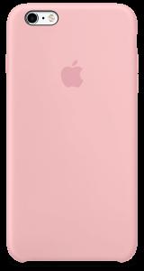 Розовый силиконовый чехол для iPhone6/6sPlus