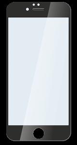 Защитное стекло для iPhone 6/6s plus чёрное
