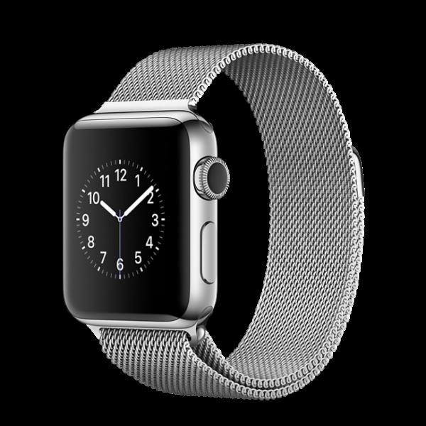 Apple Watch Корпус из нержавеющей стали 38мм, миланский сетчатый браслет